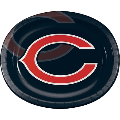 NFL Chicago Bears Oval Plates 8 pk (069506)