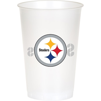 NFL Pittsburgh Steelers Plastic Cups 8 pk (019525)
