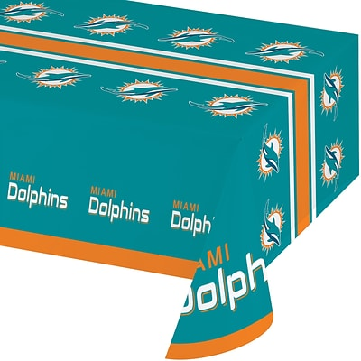 NFL Miami Dolphins Plastic Tablecloth (729517)