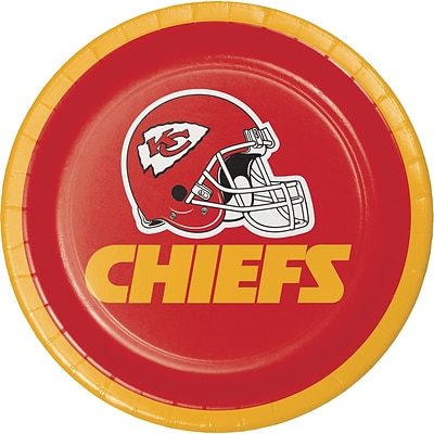NFL Kansas City Chiefs Dessert Plates 8 pk (419516)