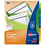 Avery Big Tab Insertable Plastic Dividers with Pockets, 8-Tab, Multicolor (11903)