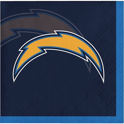 NFL San Diego Chargers Beverage Napkins 16 pk (659526)