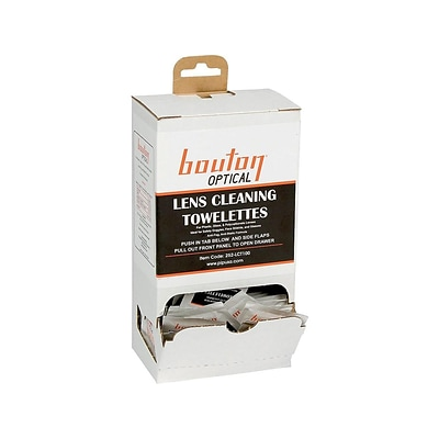 Bouton Optical Lens Cleaning Towelettes, 100/Box (252-LCT100)