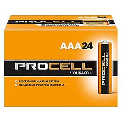 Duracell PROCELL Alkaline Battery, AAA, 144/Carton (PC2400)