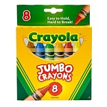 Crayola Jumbo Crayons, 8/Pack, 6 Packs/Bundle (BIN389)