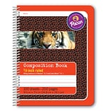 Pacon® Composition Notebook, 9.75 x 7.5, Manuscript Ruled, 100 Sheets, Red Tiger, Each (PAC2432)