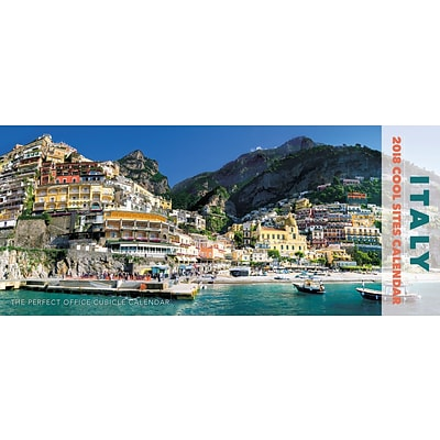 2018 Willow Creek Press 15 x 6.5 Italy Panoramic Wall Calendar (47669)