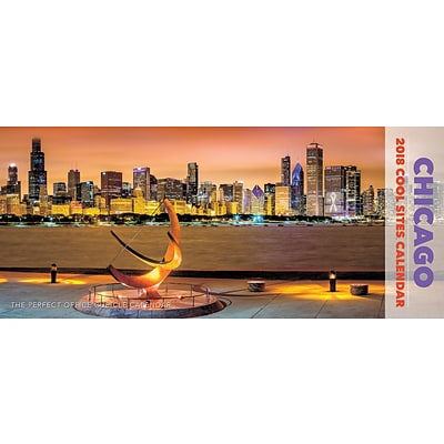 2018 Willow Creek Press 15 x 6.5 Chicago Panoramic Wall Calendar (47652)