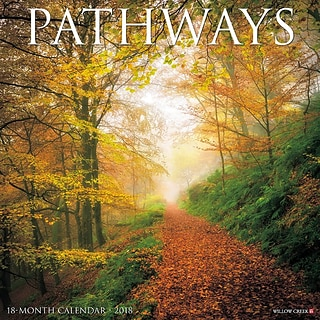 2018 Willow Creek Press 12 x 12 Pathways Wall Calendar (45757)