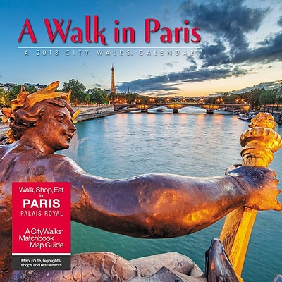 2018 Willow Creek Press 12 x 12 A Walk in Paris Wall Calendar (43869)