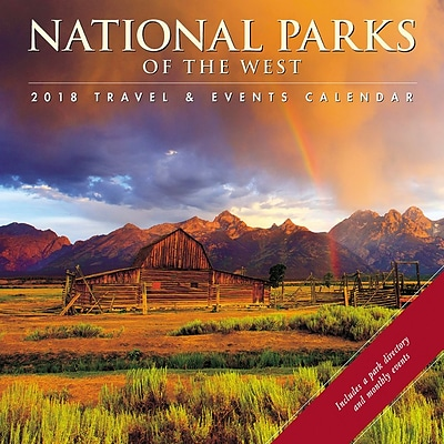 2018 Willow Creek Press 12 x 12 National Parks of the West Wall Calendar (45603)