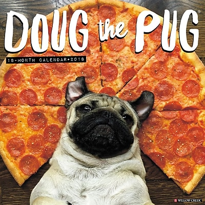 2018 Willow Creek Press 12 x 12 Doug the Pug Wall Calendar (44781)