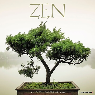 2018 Willow Creek Press 12 x 12 Zen Wall Calendar (46617)