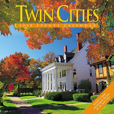2018 Willow Creek Press 12 x 12 Twin Cities Wall Calendar (46280)