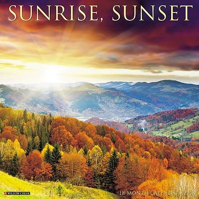 2018 Willow Creek Press 12 x 12 Sunrise, Sunset Wall Calendar (46198)