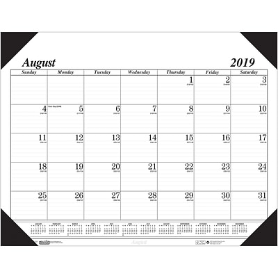 Academic Economy Desk Pad 17-Month Aug-Dec, 22 x 17, White (HOD12802)