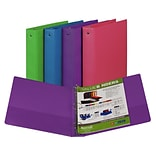 Fashion Color Binder 2 Capacity, Assorted, 3 Ring, SAM11699
