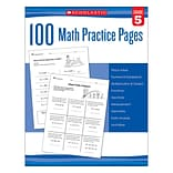 Scholastic 100 Math Practice Pages for Grade 5 (SC-579941)