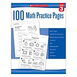 Scholastic 100 Math Practice Pages for Grade 3 (SC-579939)