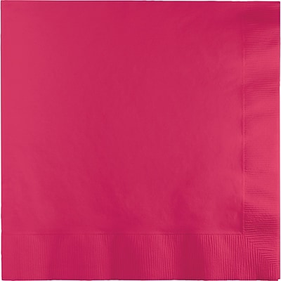 Touch of Color Hot Magenta Pink Napkins 3 ply 50 pk (58177B)