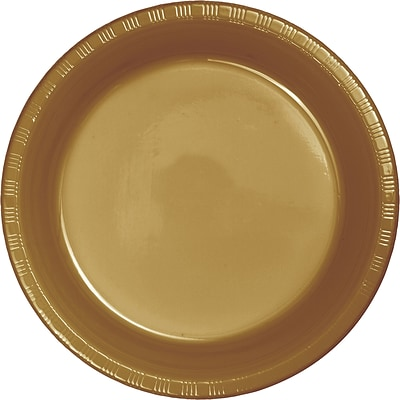 Touch of Color Glittering Gold Plastic Dessert Plates 50 pk (28103011B)