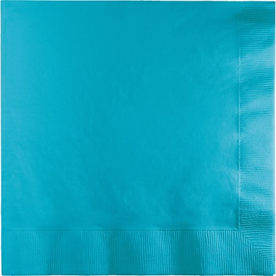 Touch of Color 3 Ply Lunch Napkins, Bermuda Blue, 50/Pack (581039B)