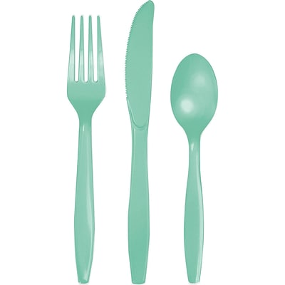 Celebrations Fresh Mint Green Assorted Cutlery 18 pk (324482)