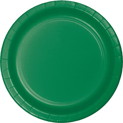 Celebrations Paper Dinner Plates, Emerald Green, 8/Pack (553261)