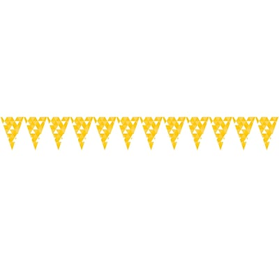 Celebrations Fractal Flag Banner, School Bus Yellow (324458)
