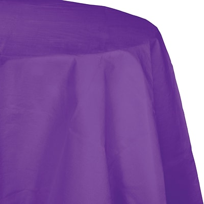Touch of Color Octy Round Paper Tablecloth, Amethyst Purple (318941)