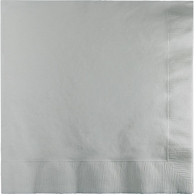 Touch of Color Shimmering Silver Napkins 3 ply 50 pk (583281B)