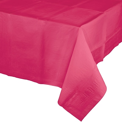 Touch of Color Hot Magenta Pink Paper Tablecloth (710205B)