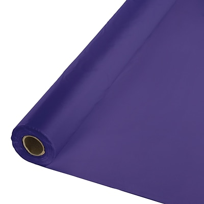 Touch of Color Purple Plastic Tablecloth, 40 x 100 (710126B)