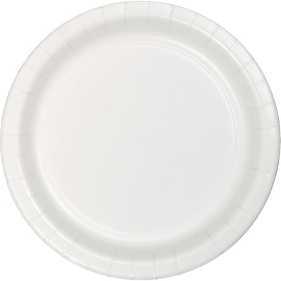 Touch of Color Paper Dinner Plates, White, 75/Pack (483272B)