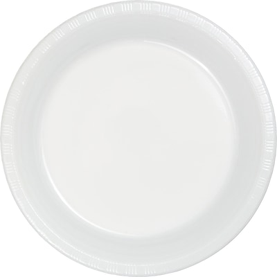 Touch of Color White Plastic Plates 50 pk (28000021B)