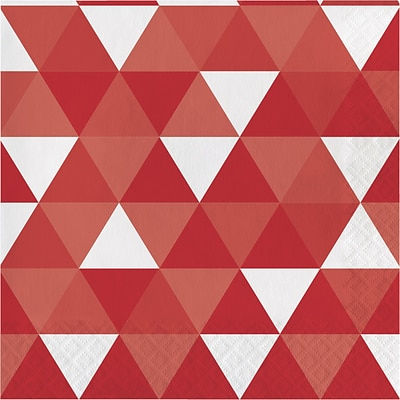 Celebrations Classic Red Fractal Napkins 16 pk (319975)