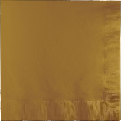Touch of Color Glittering Gold Dinner Napkins 3 ply 25 pk (593276B)