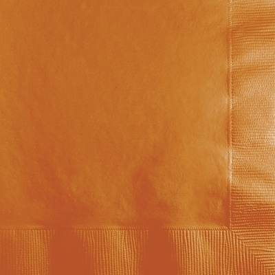 Touch of Color Pumpkin Spice Orange Beverage Napkins 3 ply 50 pk (323390)