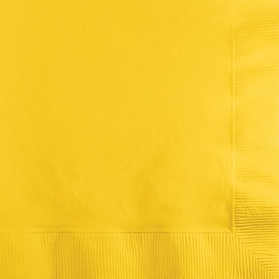 Touch of Color School Bus Yellow Beverage Napkins 3 ply 50 pk (571021B)