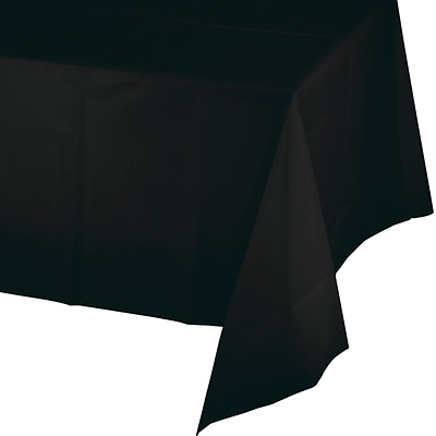 Touch of Color Black Plastic Tablecloth (01290B)