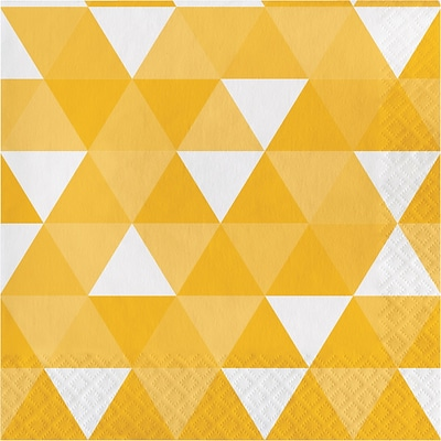 Celebrations School Bus Yellow Fractal Napkins 16 pk (319977)