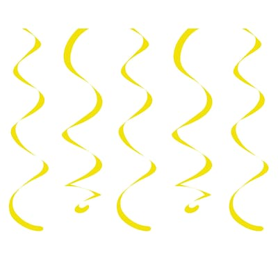 Creative Converting Yellow Dizzy Danglers 10 pk (030173)