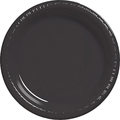 Touch of Color Black Plastic Dessert Plates 50 pk (28134011B)