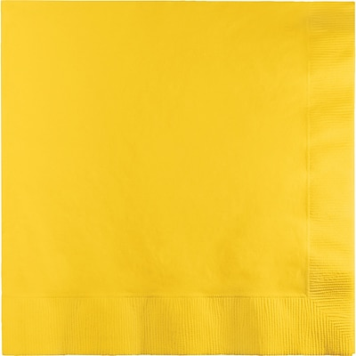Touch of Color School Bus Yellow Dinner Napkins 3 ply 25 pk (591021B)