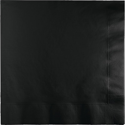 Touch of Color Black Dinner Napkins 25 pk (59134B)