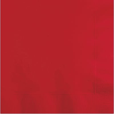 Touch of Color Classic Red Beverage Napkins 3 ply 50 pk (571031B)