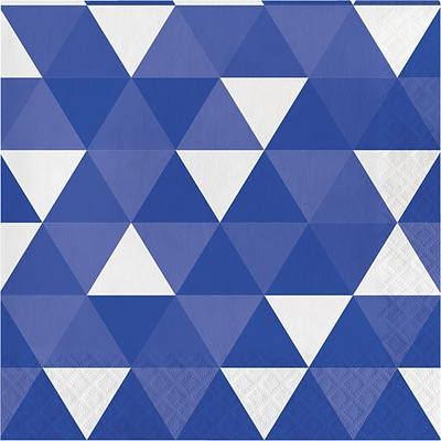 Celebrations Cobalt Blue Fractal Napkins 16 pk (319976)