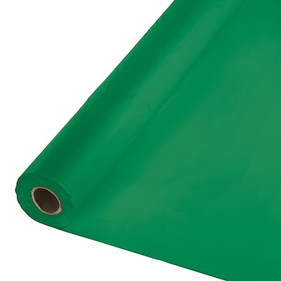 Touch of Color Plastic Banquet Roll, Emerald Green (763261B)