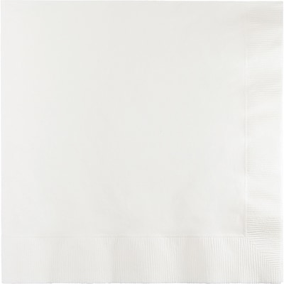 Touch of Color White Napkins 3 ply 50 pk (58000B)