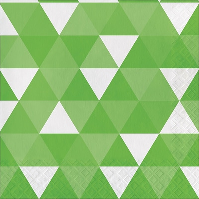 Celebrations Fresh Lime Green Fractal Napkins 16 pk (319978)